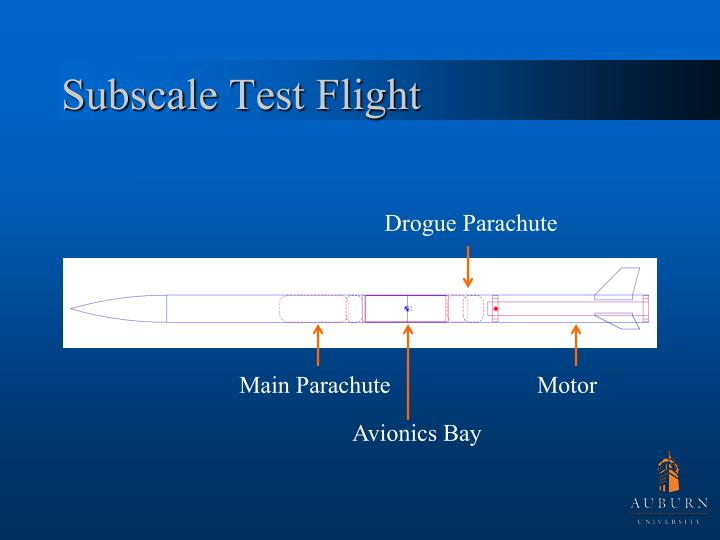 Subscale Test Flight
