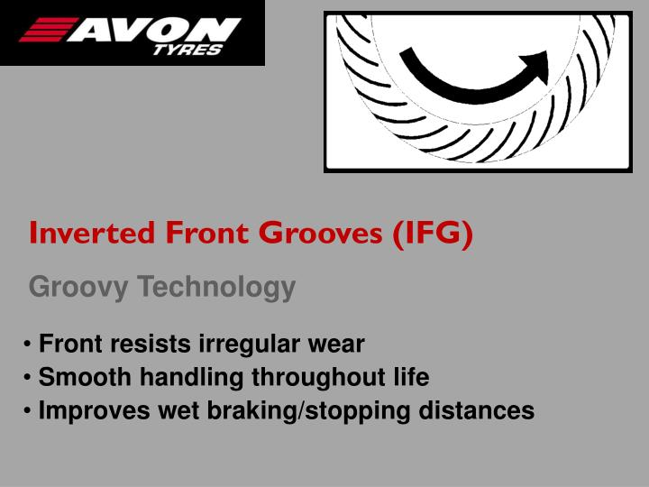 Inverted Front Grooves (IFG)