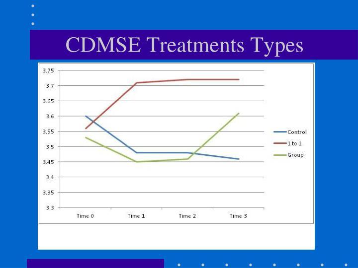 CDMSE Treatments Types