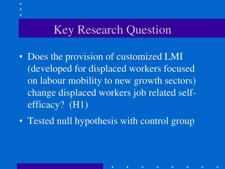 Key Research Question