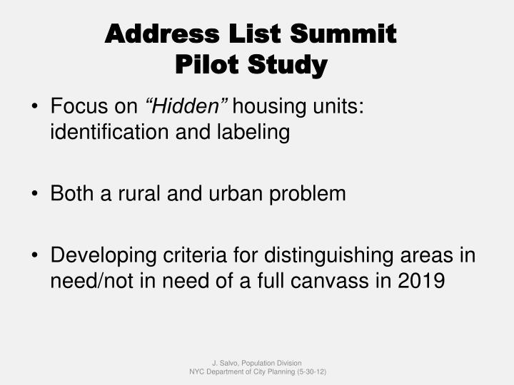 Address List Summit