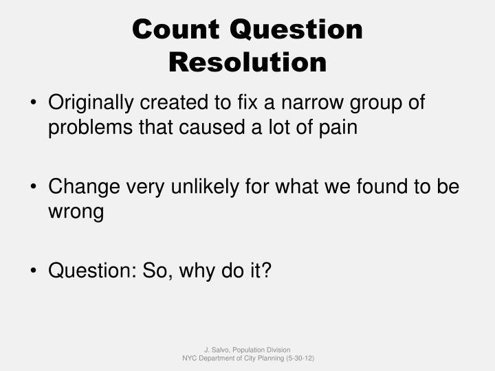 Count question resolution