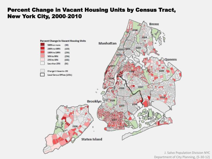 Percent Change in Vacant Housing Units by Census Tract,
