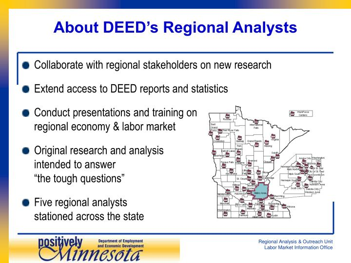 About DEED's Regional Analysts
