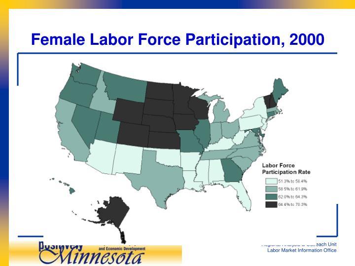 Female Labor Force Participation, 2000
