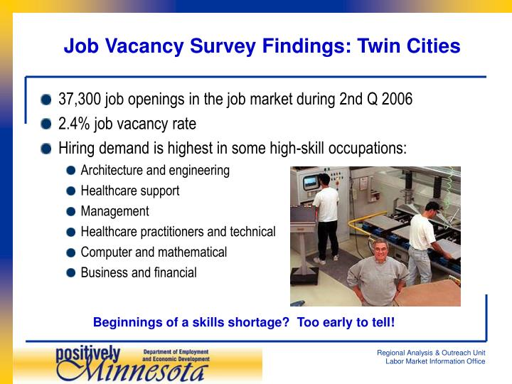 37,300 job openings in the job market during 2nd Q 2006