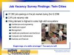 job vacancy survey findings twin cities