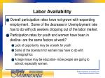 labor availability