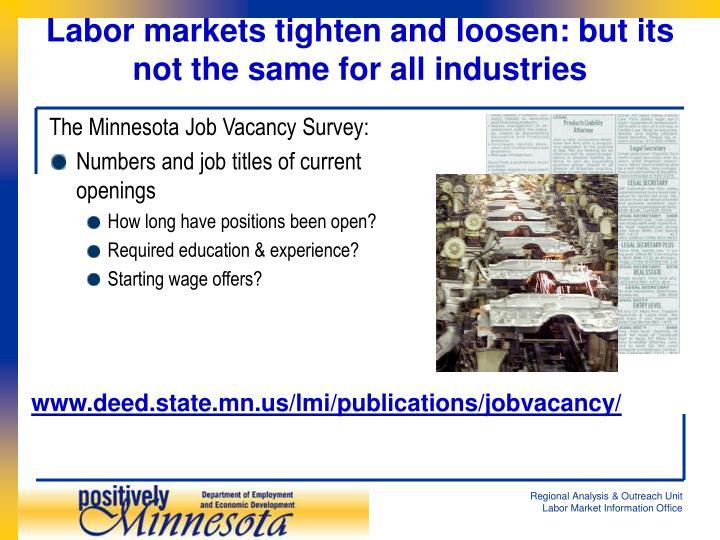 The Minnesota Job Vacancy Survey: