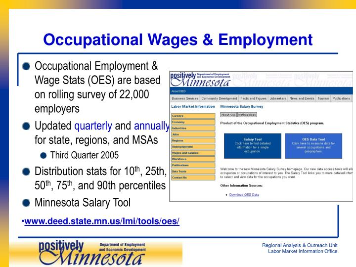 Occupational Wages & Employment