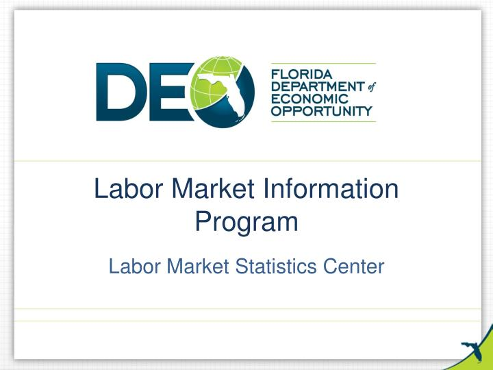 labor market information program