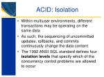 acid isolation