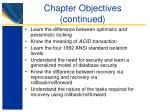chapter objectives continued