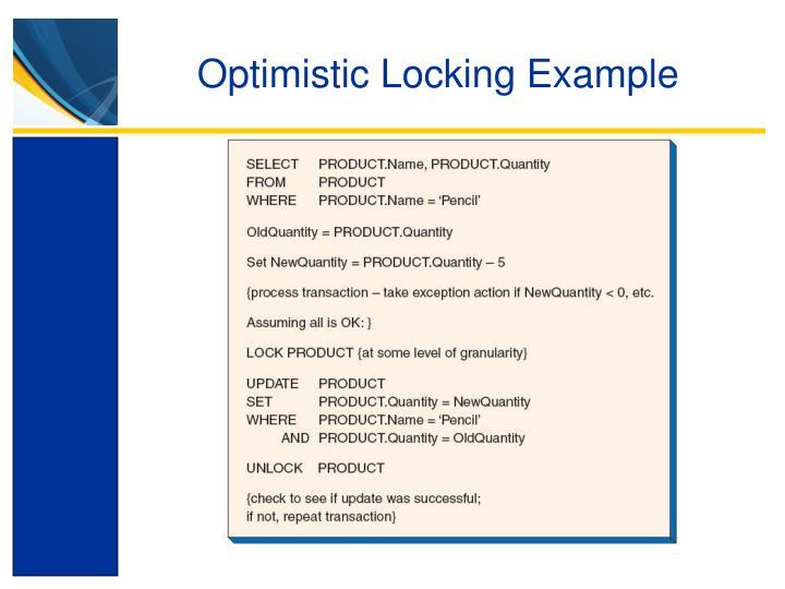 Optimistic Locking Example