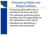 processing rights and responsibilities