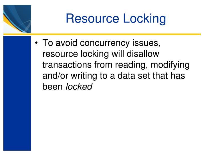 Resource Locking