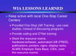 wia lessons learned8