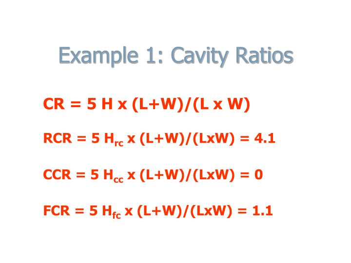 Example 1: Cavity Ratios