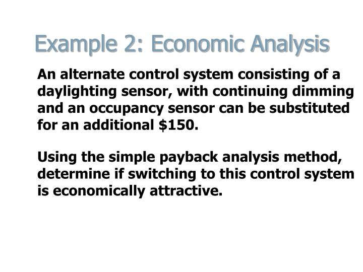 Example 2: Economic Analysis
