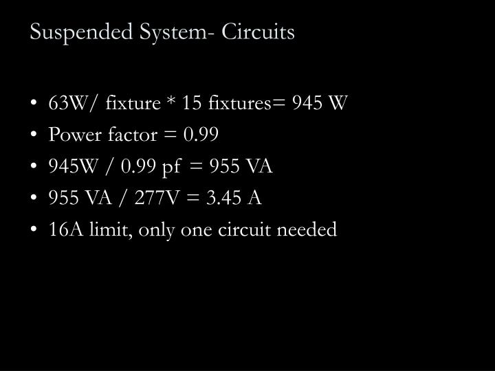 Suspended System- Circuits