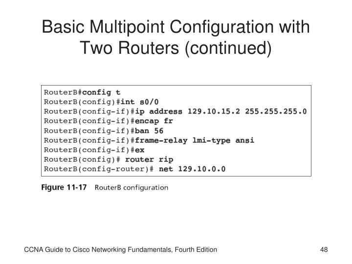 Basic Multipoint Configuration with Two Routers (continued)