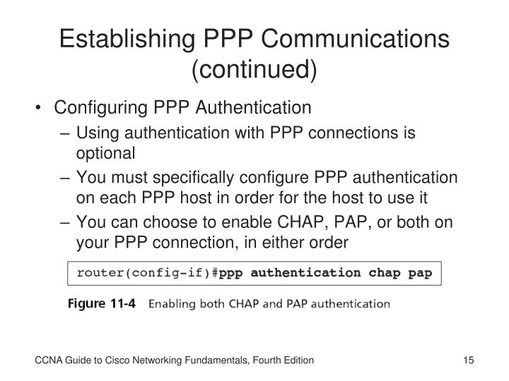 Establishing PPP Communications (continued)