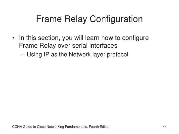 Frame Relay Configuration