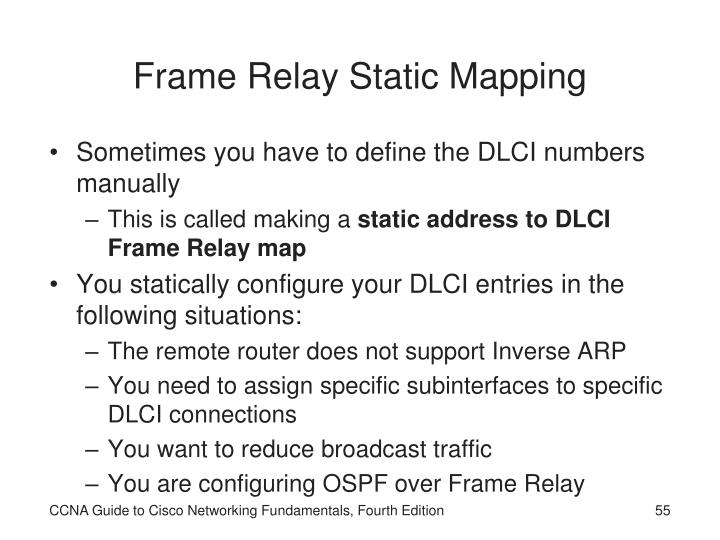 Frame Relay Static Mapping