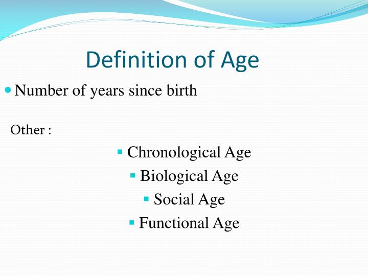 Definition of Age