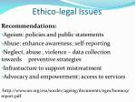 ethico legal issues1