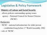 legislative policy framework1