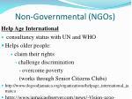 non governmental ngos