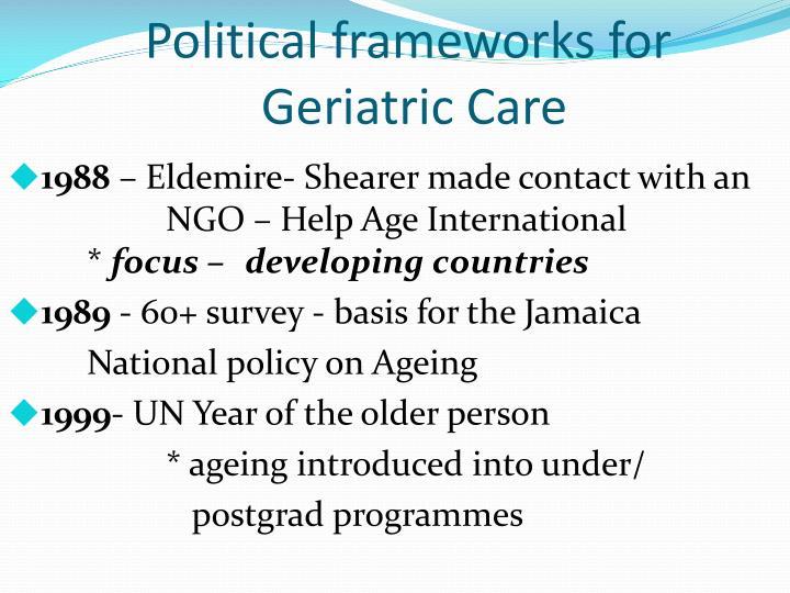 Political frameworks for