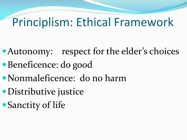 Principlism: Ethical Framework