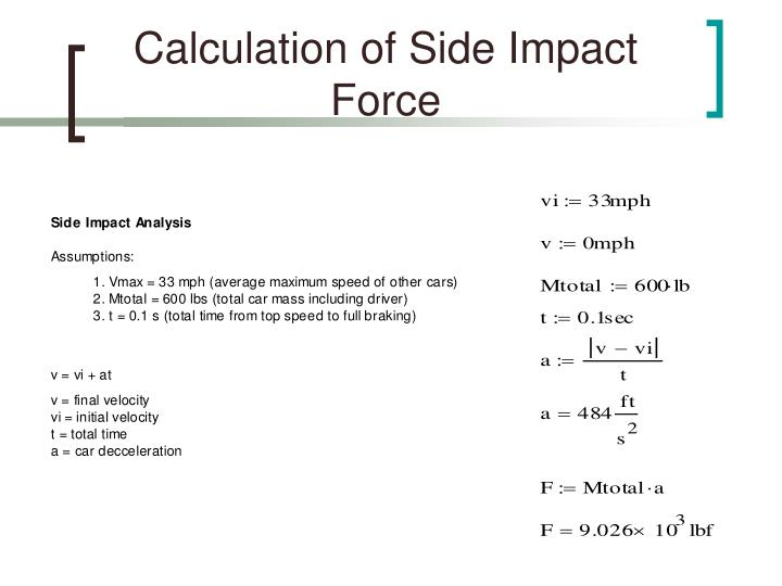 Calculation of Side Impact Force