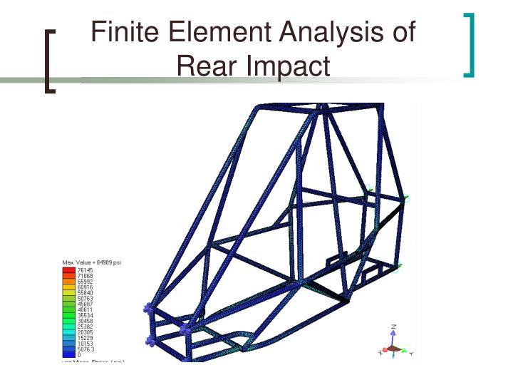 Finite Element Analysis of Rear Impact
