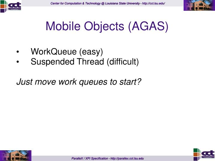 Mobile Objects (AGAS)