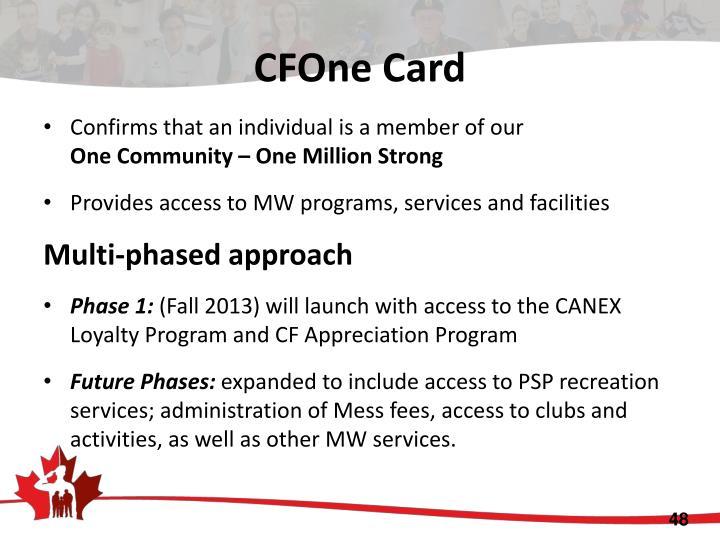 CFOne Card