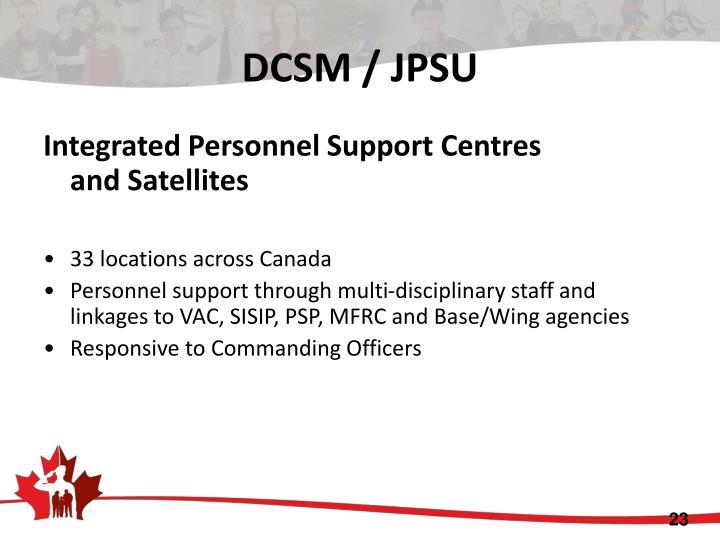 DCSM / JPSU