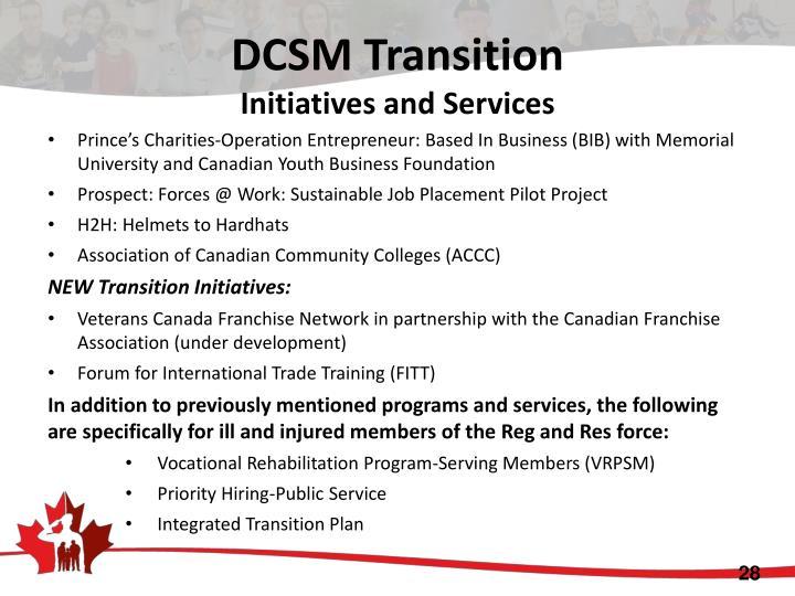 DCSM Transition