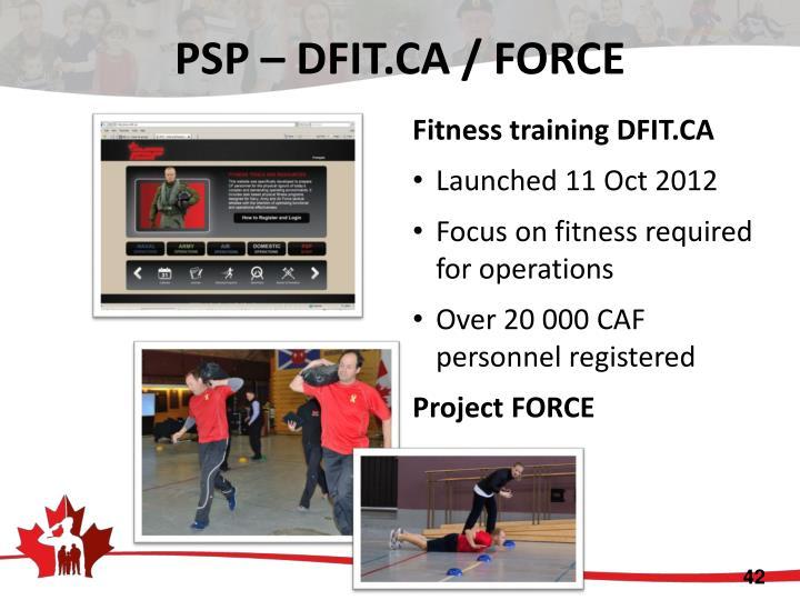 PSP – DFIT.CA / FORCE