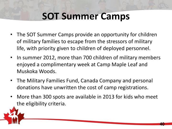 SOT Summer Camps