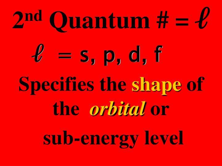 ℓ  = s, p, d, f