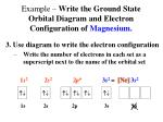 example write the ground state orbital diagram and electron configuration of magnesium