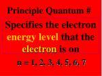 principle quantum