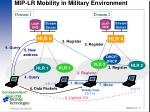 mip lr mobility in military environment