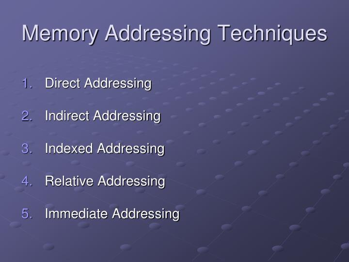 Memory addressing techniques