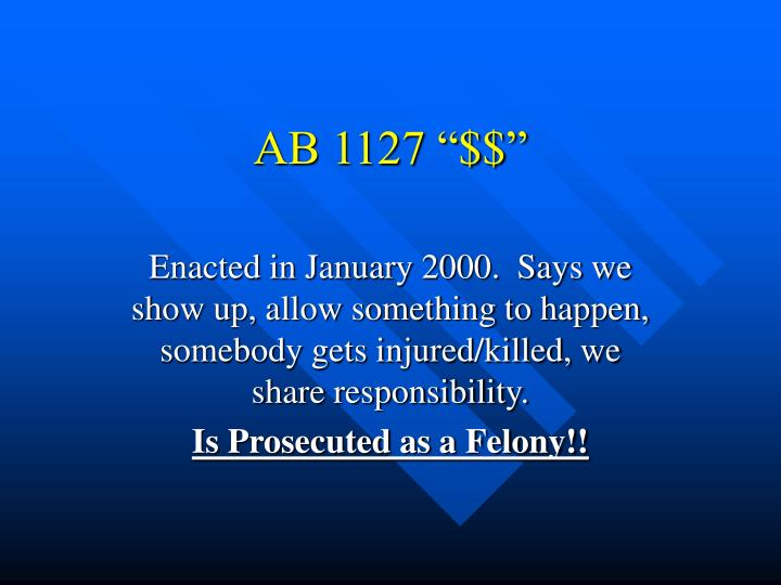 "AB 1127 ""$$"""