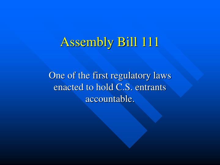 Assembly Bill 111