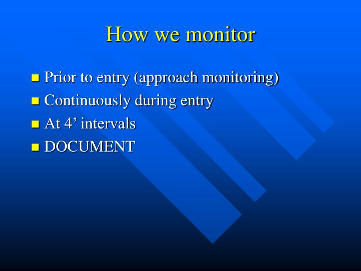 How we monitor